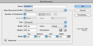 New Document Dialog box