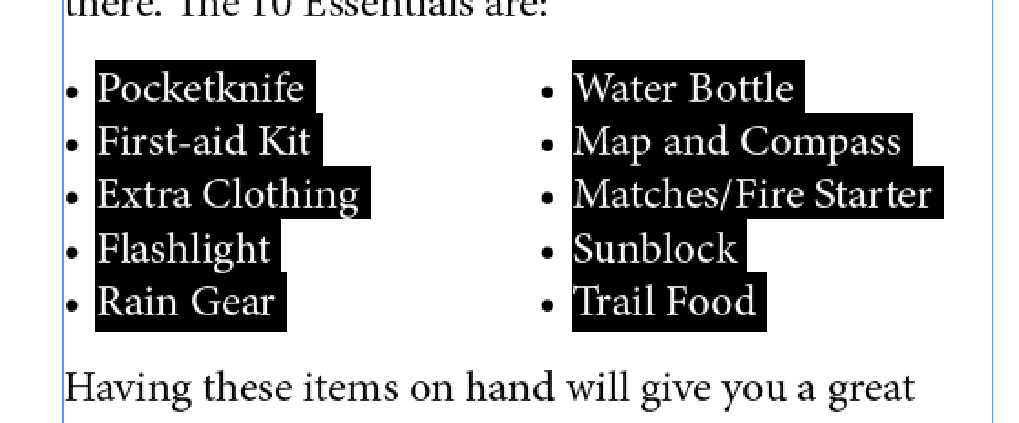 sorting bulleted lists in indesign cgs design software blog
